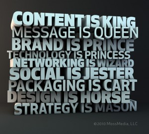 Content is King... and that's just the 1/2 of it.